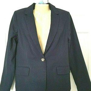 KENAR Women's Blazer Jacket Size Large Navy Blue L